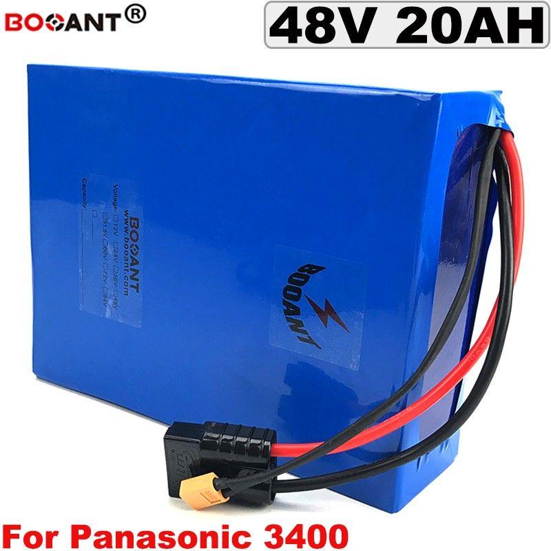 Wiederaufladbare Lithium-Ionen-Batterie 48V 20AH Elektrische Fahrradbatterie 48V für Bafang BBSHD 500W 1000W Motor + Ladegerät 5A Freies Verschiffen