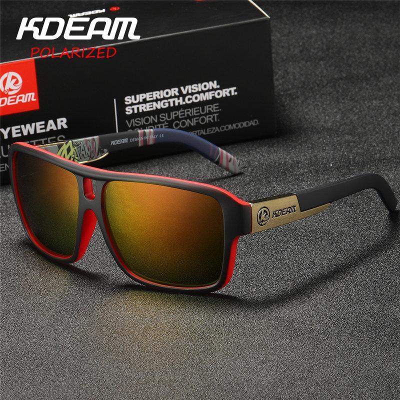 Polaroid Goggles Men Sport Eyewear With Hard Case Square Sunglasses Women Brand Driving Polarized Glasses Outdoor Kd520