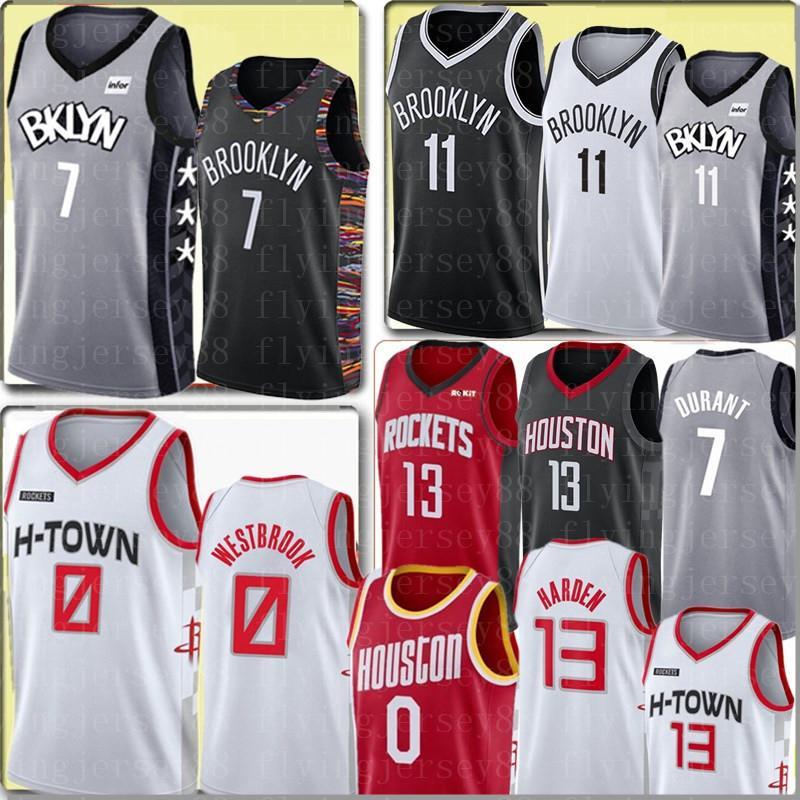 الرجال كيفن دورانت 7 Kyrie NCAA ايرفينغ جيرسي راسيل ويستبروك 0 جيرسي جيمس هاردن 13 جامعة كرة السلة الفانيلة S-XXL