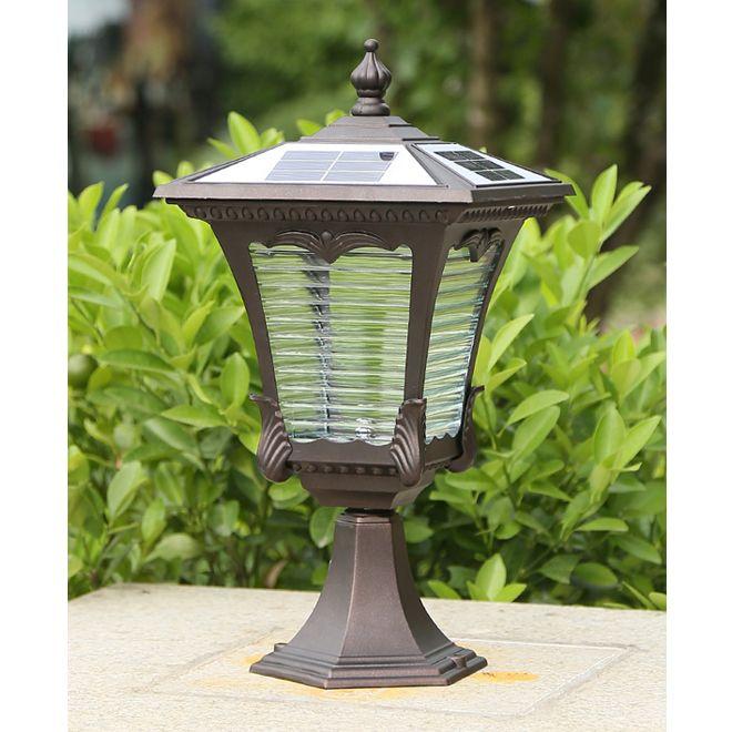 Yeni gelenler güneş enerjisi sonrası açık su geçirmez kahverengi bahçe dekoratif peyzaj güneş ışığı sonrası aydınlatma armatürleri led ışıklar lambalar