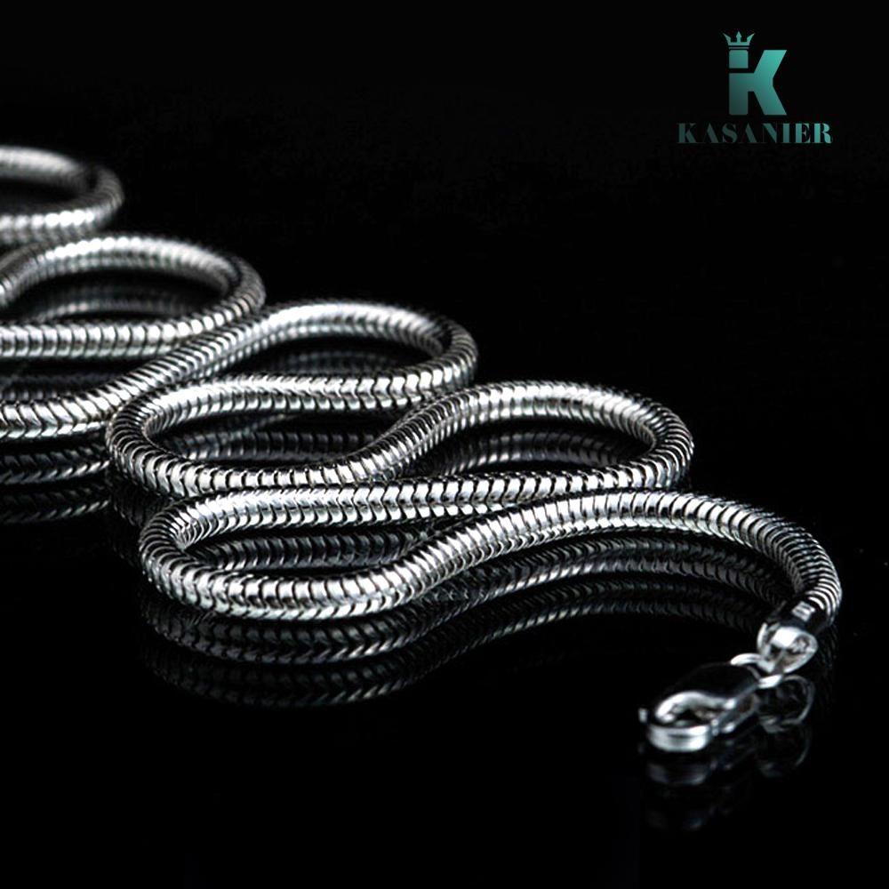 10pcs / lot Werbeaktion! Großhandel 925 Silber Halskette Mode Silber Schmuck Schlangenkette 3mm Silber Halsketten Kostenloser Versand Fabrik Preis