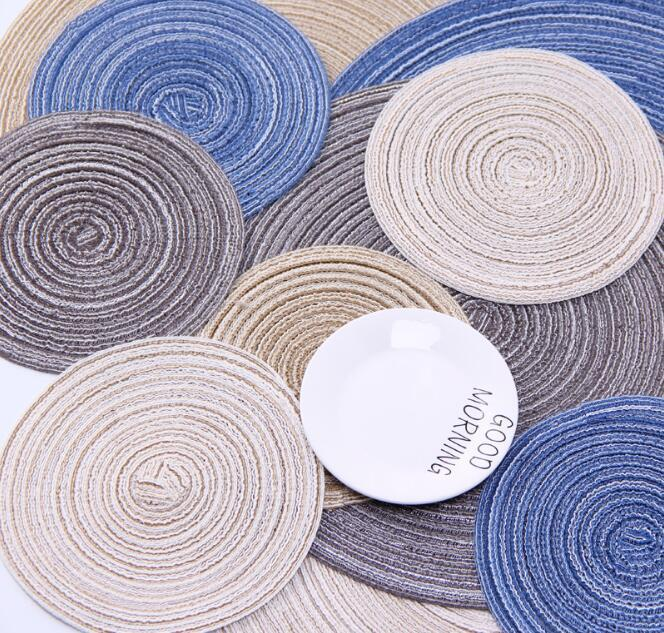 Round Table Insulation Pad Solid Non Slip Table Mat Decor Home Pad Simple