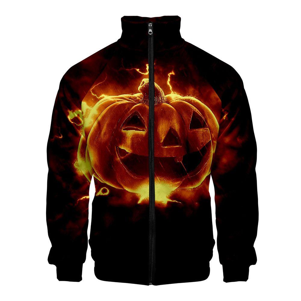 ' Day All Hallows' Day Hallowmas Men Slim fit Zipper Fashion Trend Casual Jacket Windbreaker jacket zips