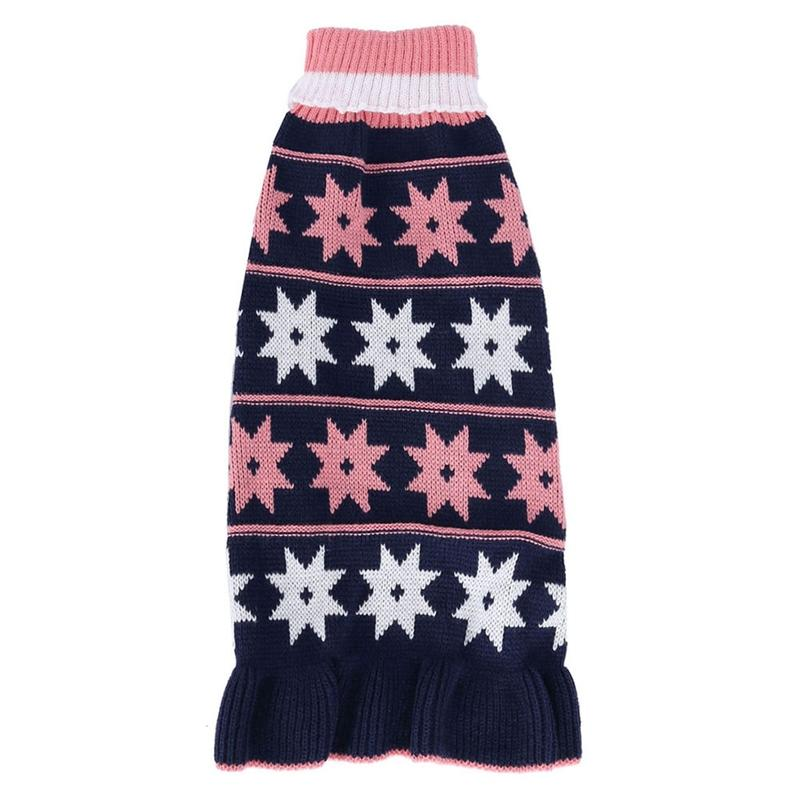 Dog Clothes Pet Turtleneck Sweater Puppy Knitted Pullover For Small Dogs Cats Winter Warm Soft Costume Thickening Dress