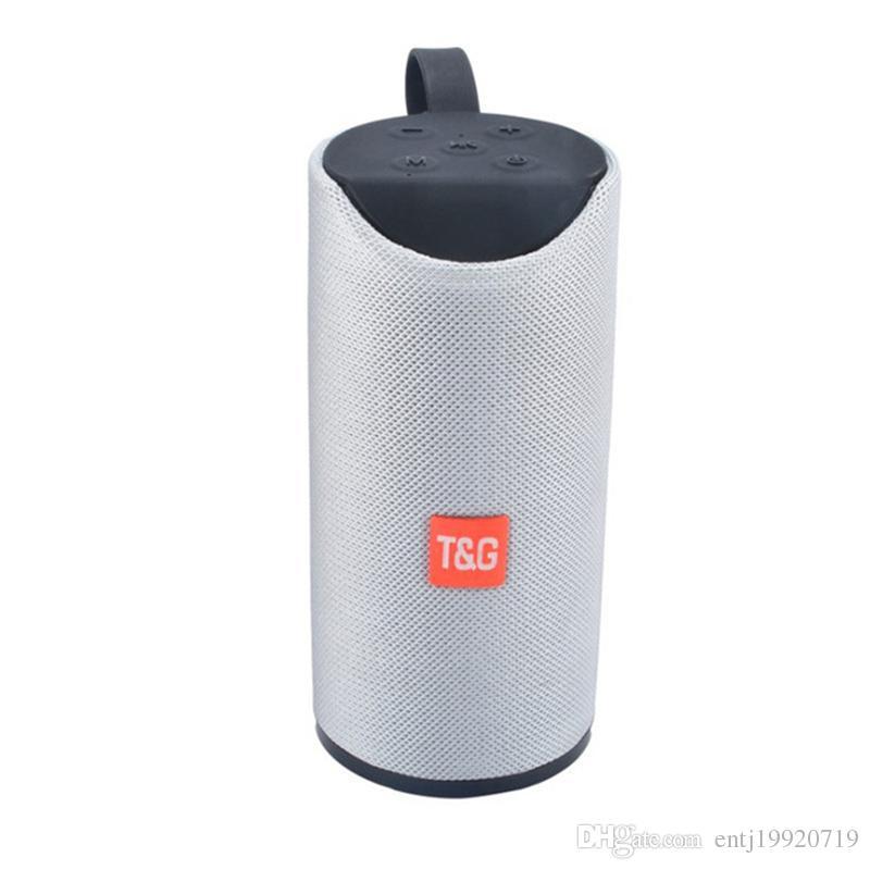 TG113 Outdoor Speaker BT Portable Speaker Round Column Fabric Art Wireless Mini TF Card and USB Disk FM AUX Loudspeaker