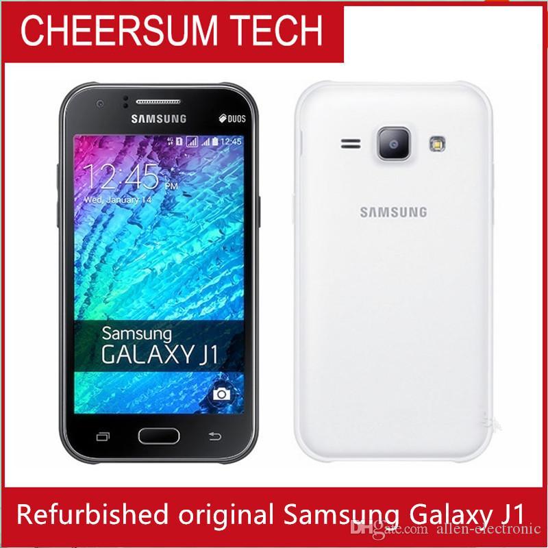 تم تجديده الأصلي سامسونج غالاكسي J100F J1 Android4.4 مع 4.3inch شاشة 800 * 480 شاشة ثنائي النواة 1850MAH مقفلة الهاتف الذكي