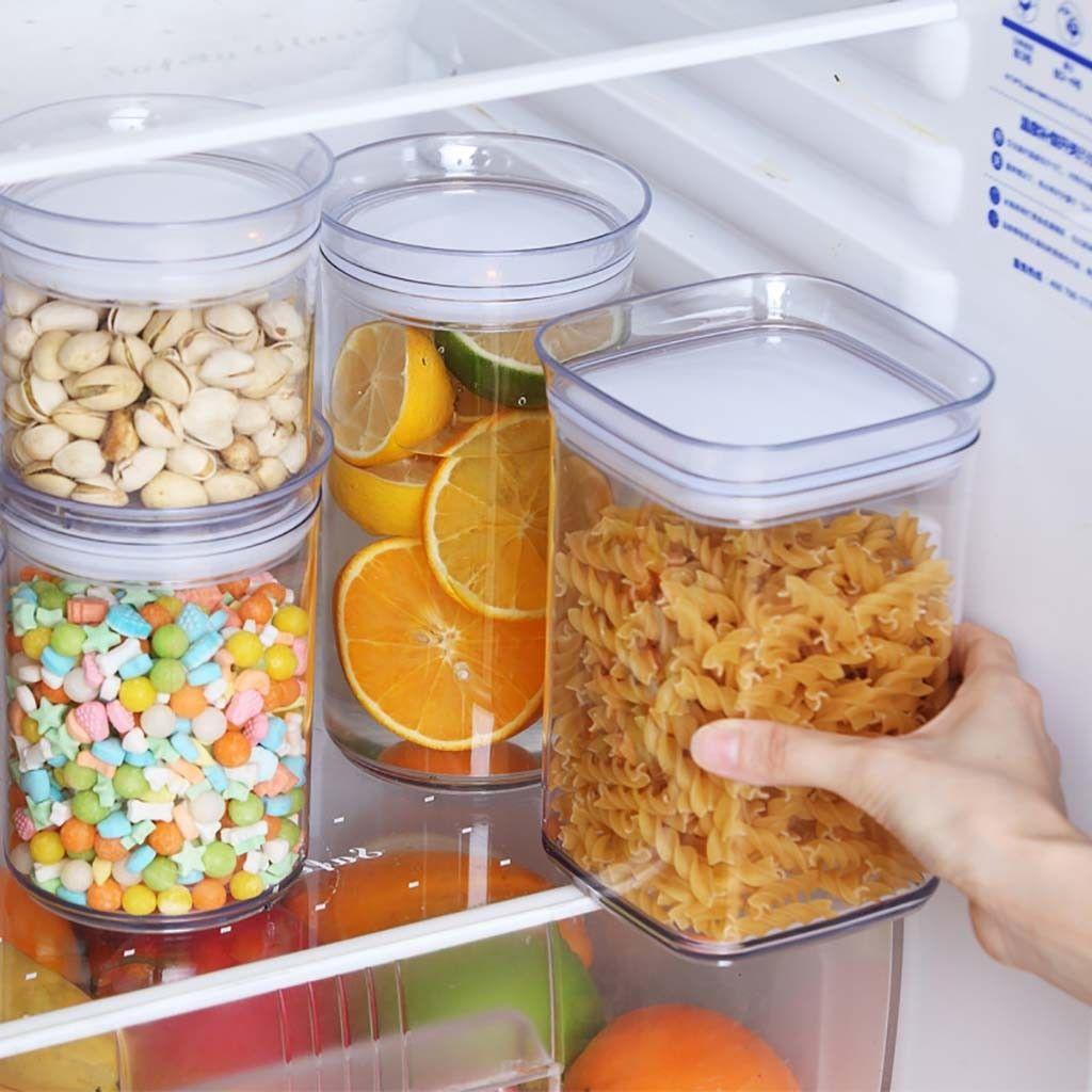 Yüksek Kaliteli Plastik Tahıl Dağıtıcı Saklama Kutusu Mutfak Gıda Tahıl Pirinç Konteyner Güzel Depolama Kupası Kat Organizatörler