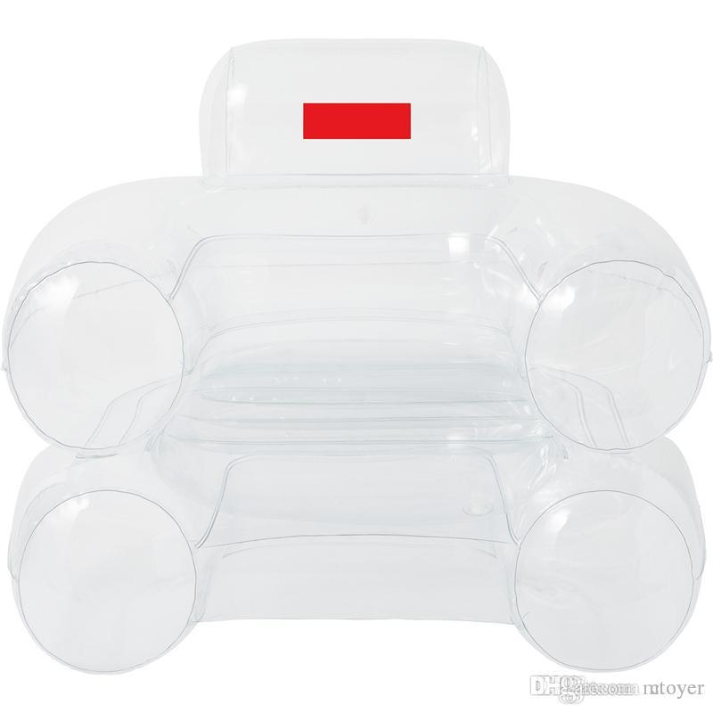 18 Air Inflatable-Chair Red yellow white 3 colors Inflatable-Chair Box Logo water sofa Vintage Chair Fw18 Blow Chair With air pump
