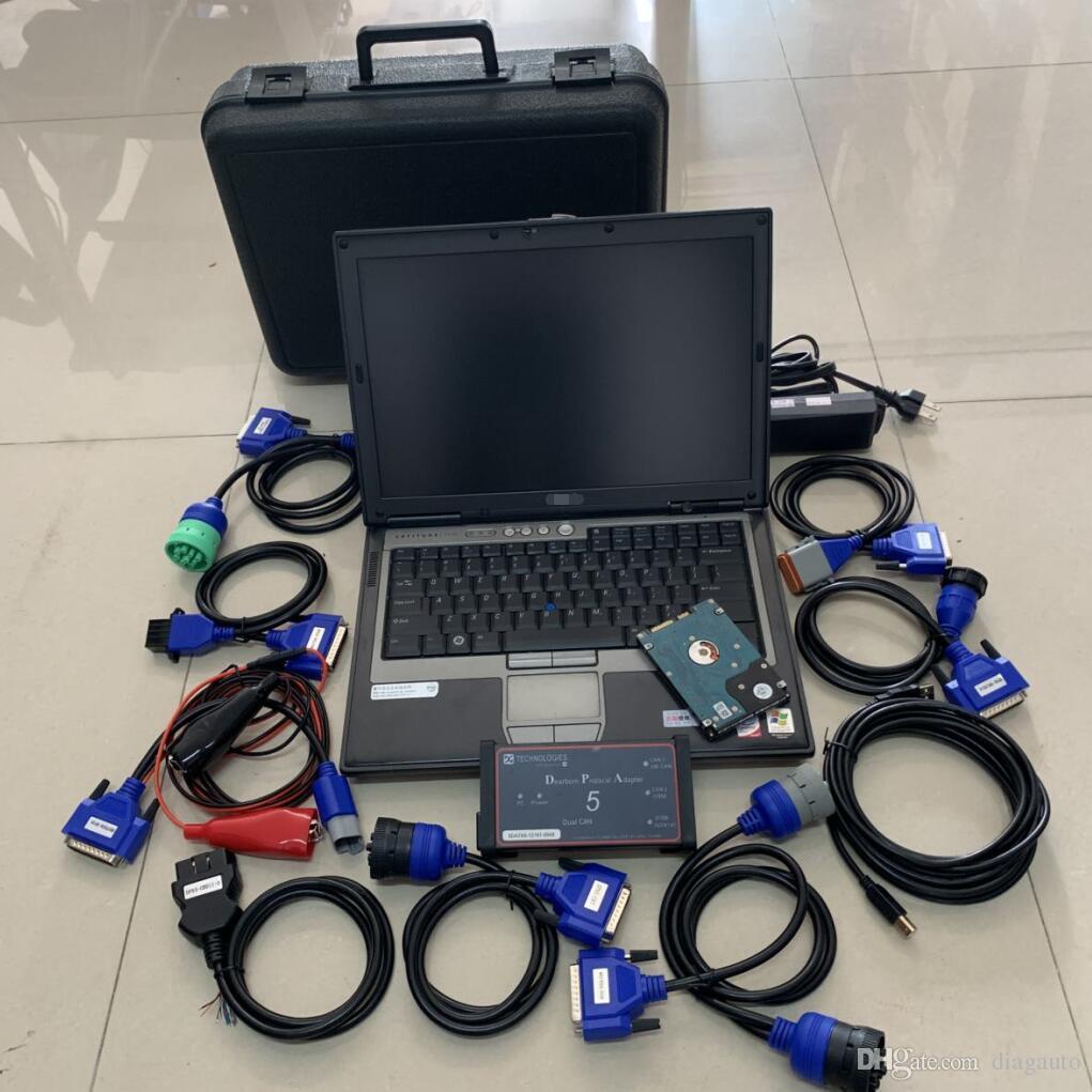 الماسح الضوئي التشخيصي للخدمة الشاحنة الثقيلة ديربورن بروتوكول محول 5 DPA5 مع الكمبيوتر المحمول D-e-ll D630 البرامج المثبتة SSD / HDD