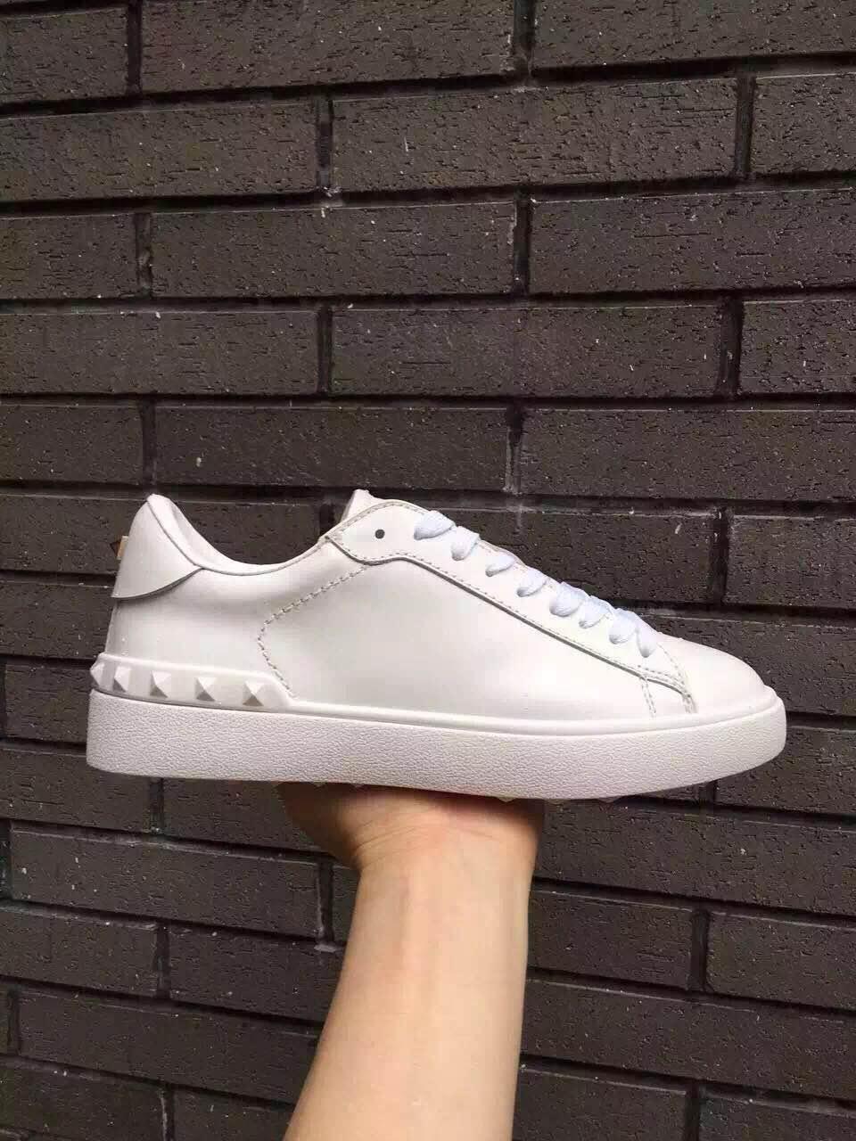 migliore qualità ~ u622 40/41/42/43/44 bianchi di cuoio genuini unisex delle scarpe da tennis delle donne degli uomini causale scarpe pista voga moda di lusso