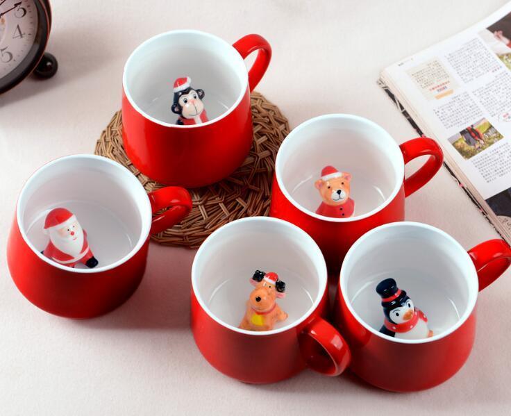 3D Kreative Weihnachten Geschenke Keramik Childen Kaffee-Tee-Milch-Becher