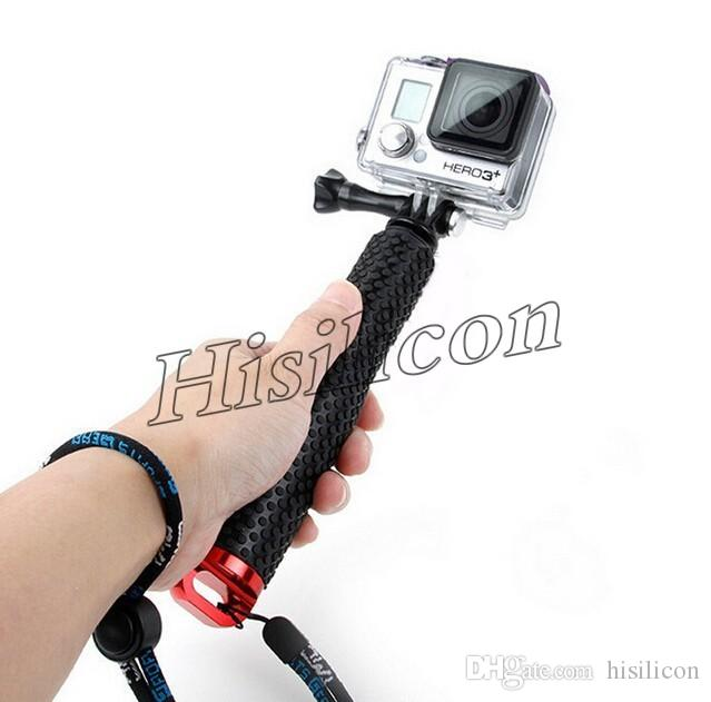 100pcs Protable GoPro Hero3+ 3 Selfie Stick 4 Colors 95cm 48cm 4 Colors Waterproof Monopod With Retail Package