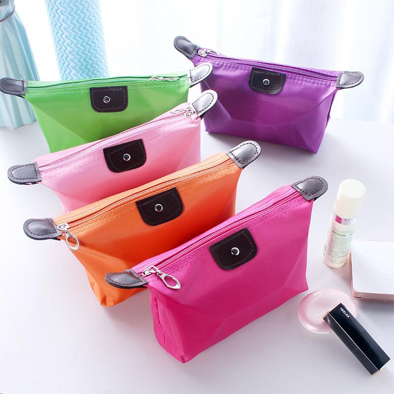 만두 메이크업 가방 단색 화장품 가방 캐주얼 다기능 방수 워시 세면 용품 저장 핸드백