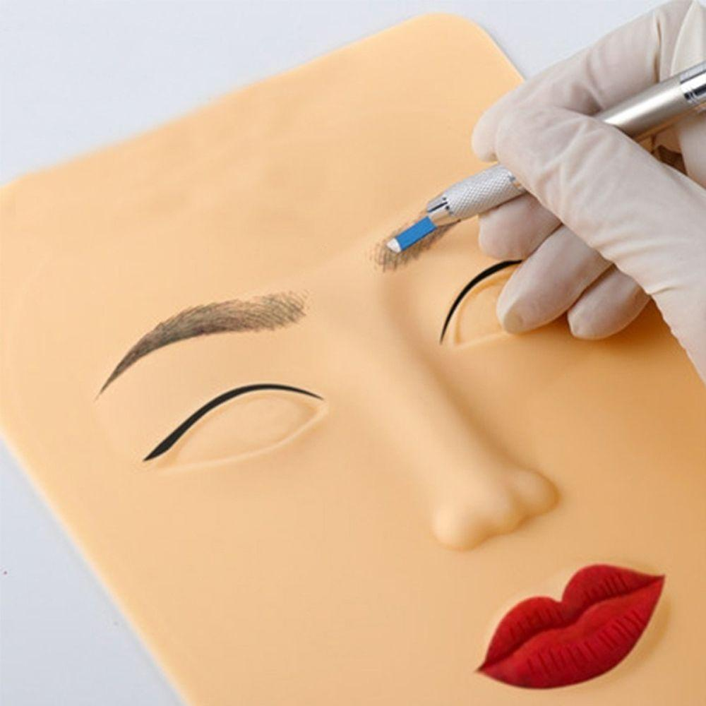 3D Face Tattoo Practice Skin Design Fake for Beginners 3D Permanent Makeup Lips Eyebrow Face