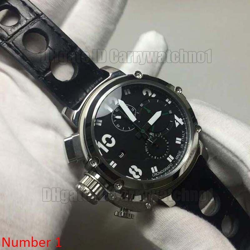 48mm große größe vk quarz schwarz stil coole mens watch armbanduhr classico limited edition u1001 wasserdichte armbanduhr