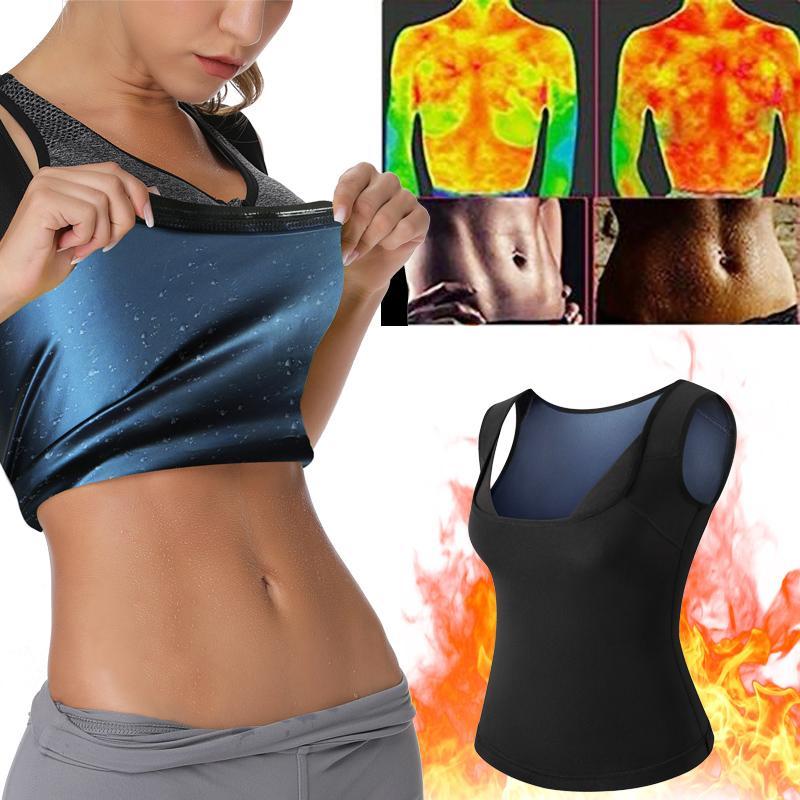 네오프렌 사우나는 체중 감량 여성 몸 셰이퍼 Faja 쉐이프웨어에 대한 벨트로 여성 허리 트레이너 코르셋 트리머 조끼를위한 조끼 땀