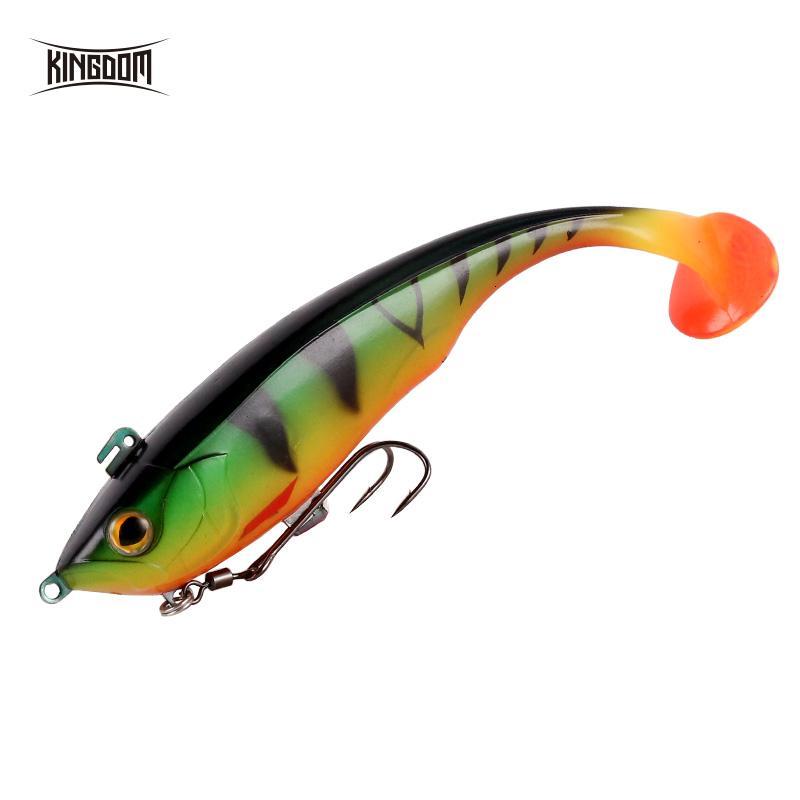 Kingdom 2019 New Soft Baits Swim Shad Double Hook Fishing Lures 170mm 55g Saltwater Swimbait Fishing Good Action Soft Lure T191017