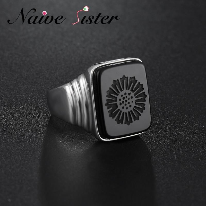Top Qualité Leonardo Dicaprio Anneau Gatsby le Magnifique réel 925 onyx noir en argent sterling anneaux pour les hommes aiment les bijoux en gros C19041203