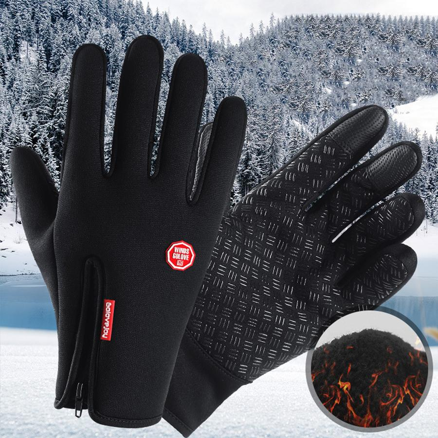 US Outdoor Winter Warm Bicycle Cycling Touch Screen Gloves Men Women Full Finger
