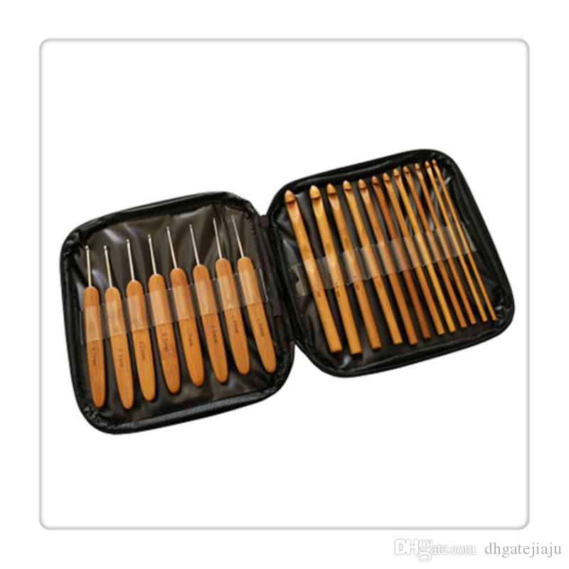 Craft Tools Bamboo Crochet Hooks fulfill different needs Knitting Needles with Case Convenient Needles Home Supplies