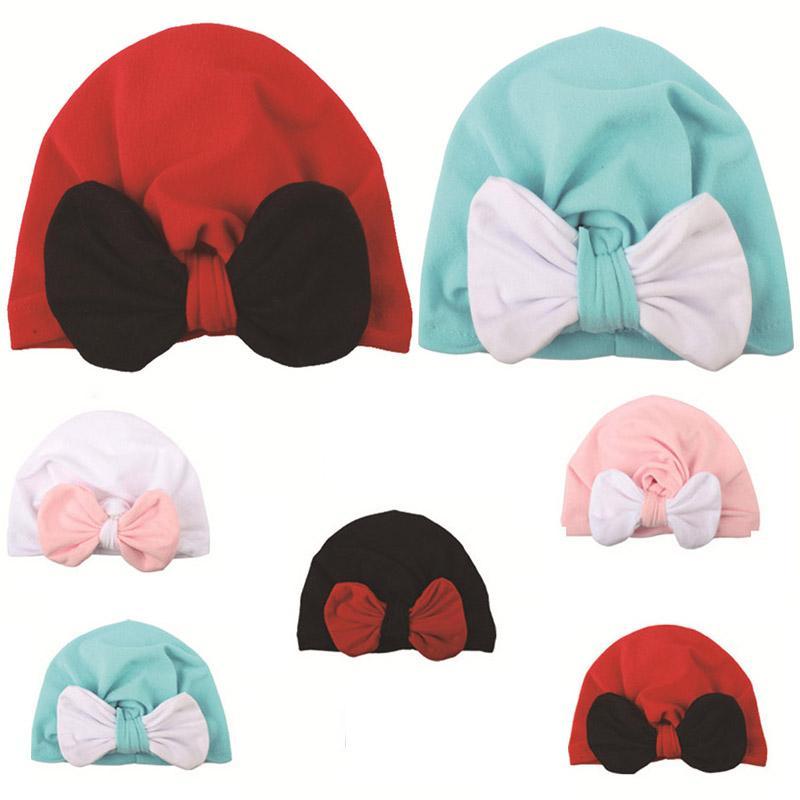 2020 New Newborn Baby Boy Girl Knitted Hat Winter Warm Bow Beanie Headwear Cap Baby Hat Winter Cap Sombrero Hoed