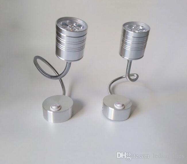 Modern LED Hortum Duvar lambası esnek 1 W 3 W 5 W banyo aynası ışık gümüş Başucu Okuma çalışma aplikleri led armatür lambaları