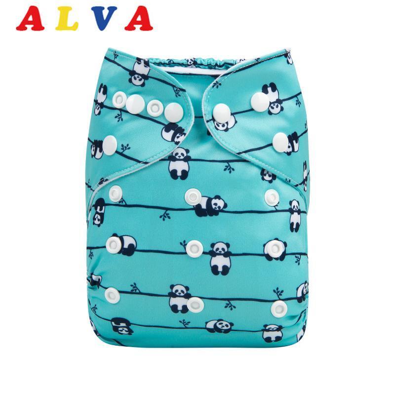 2020 Alvababy Ткань Пеленки для новорожденных Многоразовый подгузник с 1шт микрофибры вставки