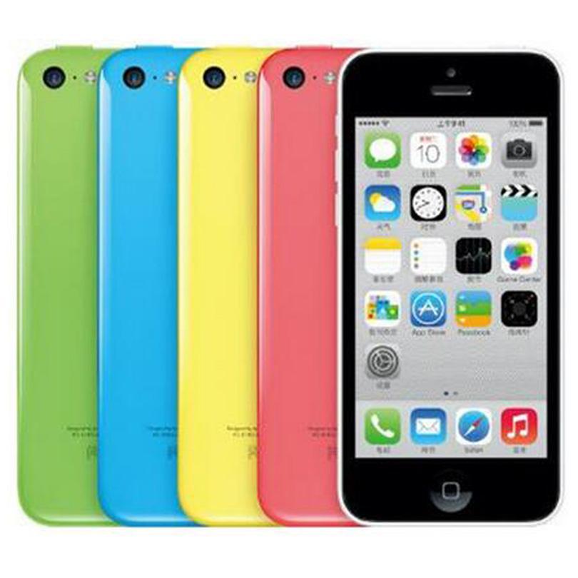 Оригинальный Восстановленное Apple, iPhone 5C 4,0 дюйма 8G / 16GB / 32GB IOS 8 Dual Core A6 8.0MP 4G LTE разблокирована смартфон Свободный DHL 5шт