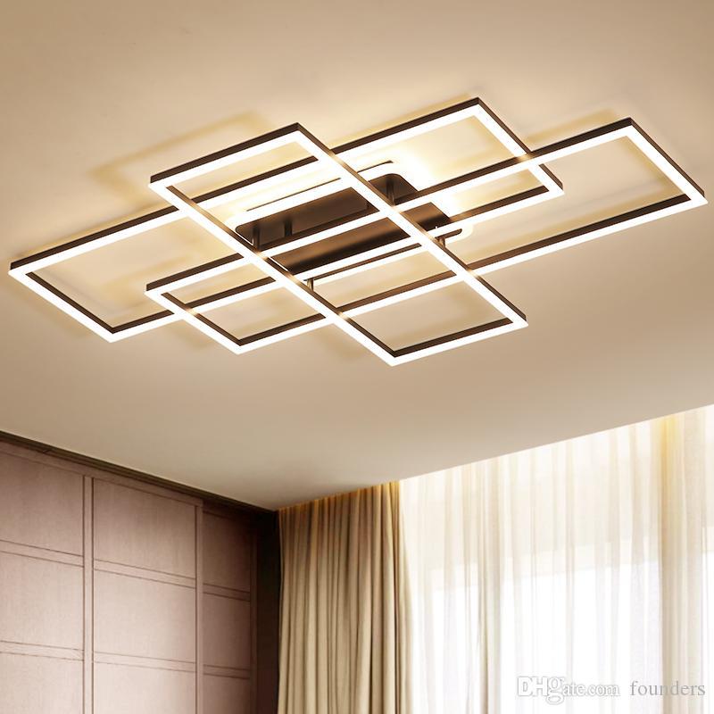 Lampadario Illuminazione per soggiorno camera da letto Lustro AC85-265V lamparas de techo Alluminio onda Avize Lampadari moderni lustro