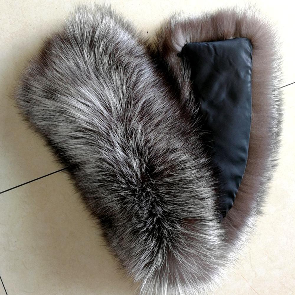 Vente Promotion Bague Femme en cuir véritable 2018 nouvelle mode d'hiver des femmes en fourrure de renard réel col ENTOURAGE Accessoires Echarpe