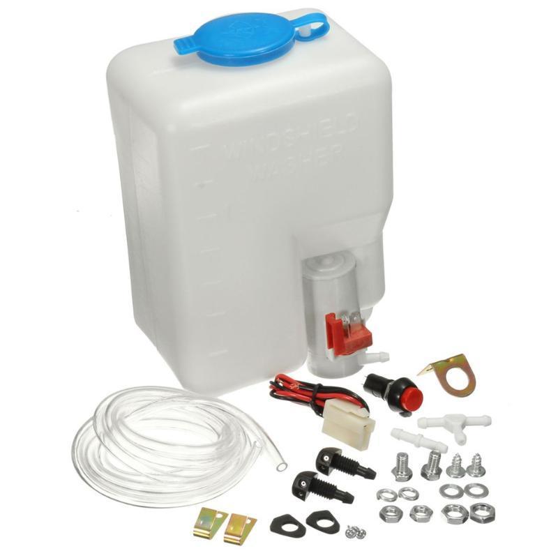 12V Universal Classic Car Lave-glace Réservoir Pompe bouteille Kit Jet commutateur Clean Tool EasyConvenient à utiliser