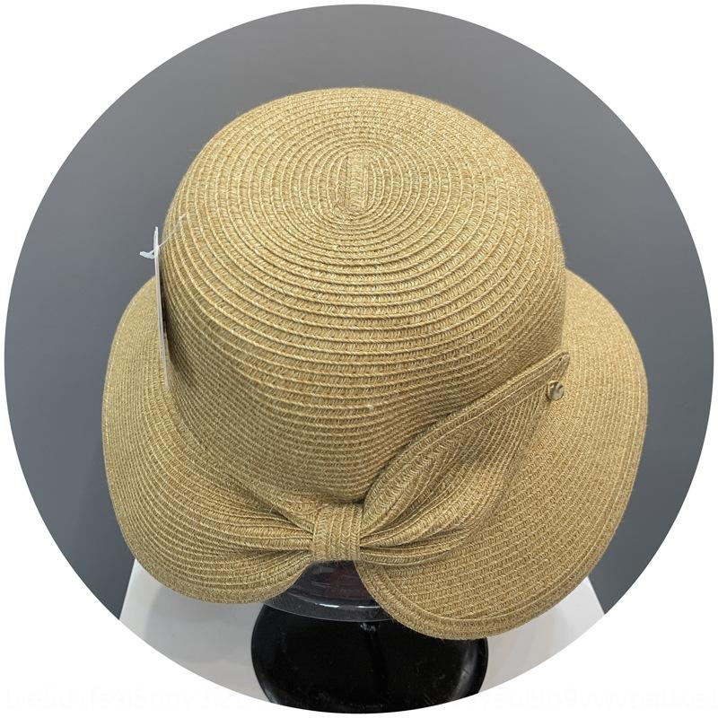 cubo cubo diaria de paja paja pescador verano de los niños de la protección solar de playa plegable portátil solar UV a prueba de sol del sombrero del pescador