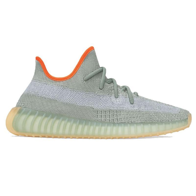 2020 Kanye West Chaussures de course Linen Cinder Feu arrière Terre Antlia Désert Sage Noir Reflective Top qualité Hommes Femmes Sneakers Livraison gratuite