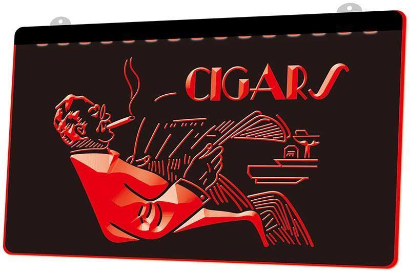 Ls1821 0 Cigarros Tienda Nueva señuelo Rgb múltiple Color Mando a Distancia grabado 3D llevó la luz de neón de barra de la tienda del club del Pub