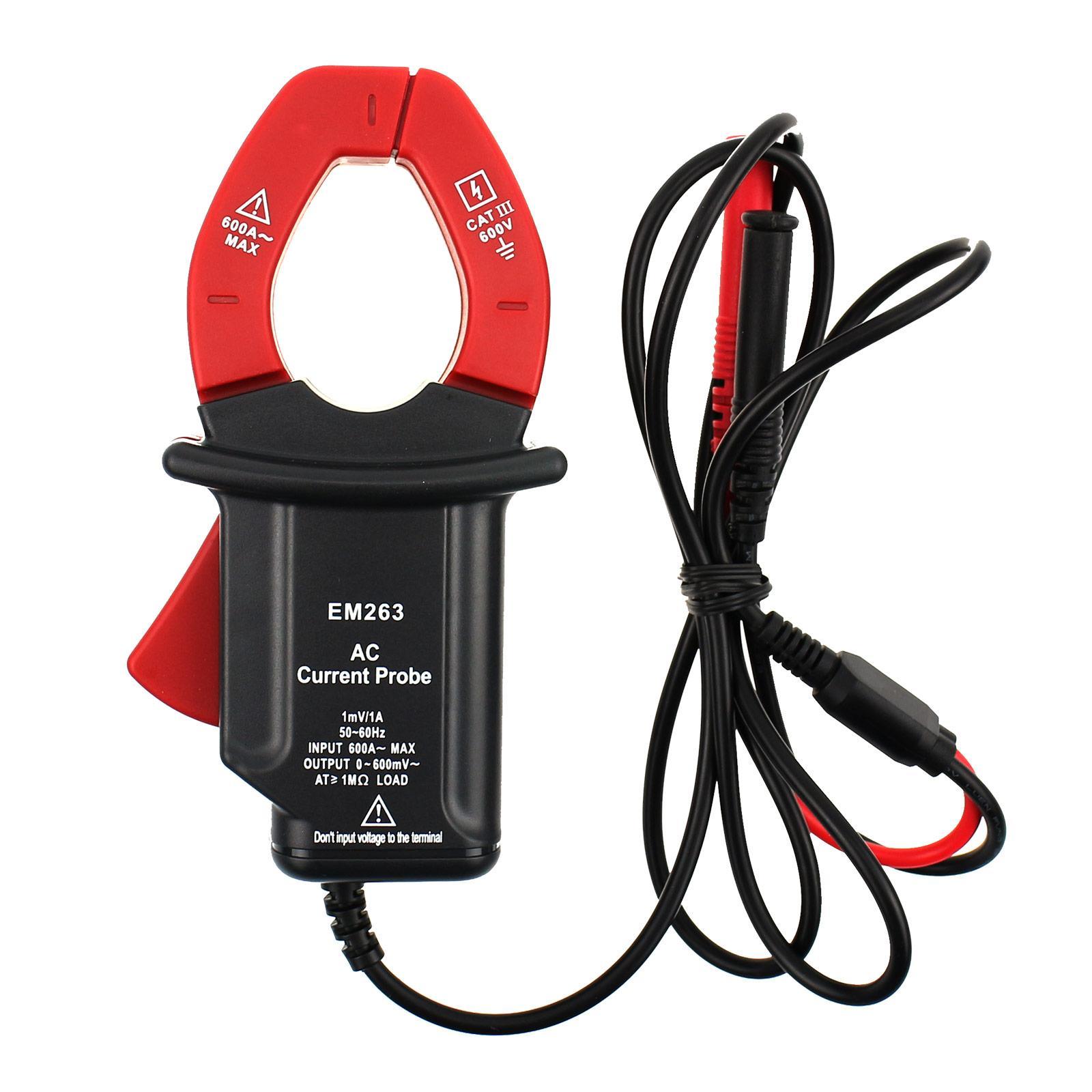 휴대용 AC 전류 프로브 CAT III 멀티 미터 안전 테스트 리더 전기 클램프 커넥터 최대. 입력 600A 모든 일 모델 EM263
