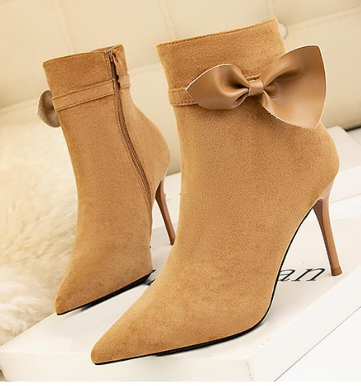 2021 summer shoes European and American style contracted women's boots ultra high heel sexy nightclub pedicure show thin pointed bo5
