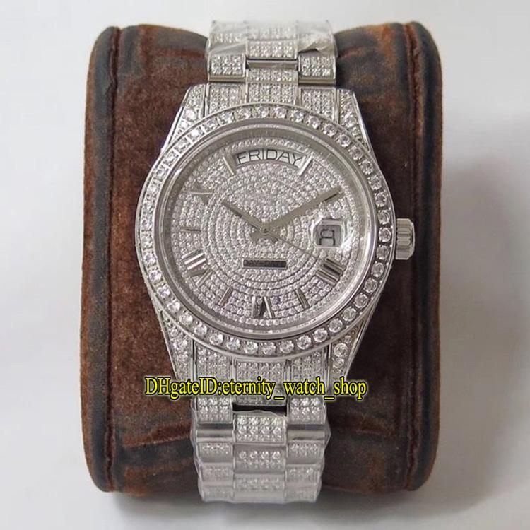 TSF 126333 228349 228.396 Gissola Diamond Dial Diamonds ETA A2836-2 Automatic Watch Mens 904L Acciaio Iced Out Cassa Iced Out Orologi completa