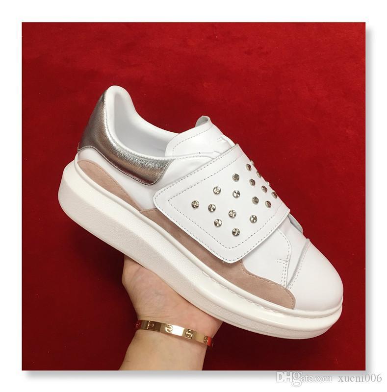 2019 Discount Homens Mulheres Sapatos casuais Itália Designer Sneakers Sapatos de couro xsd180925 Top Quality