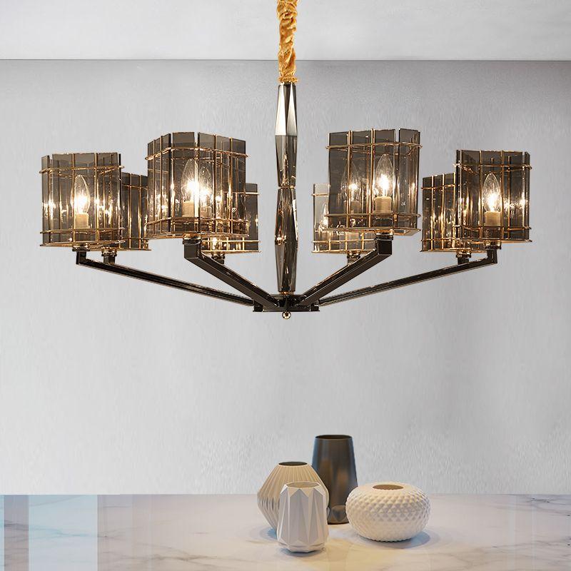 Postmoderne personnalité branche lustre en cristal simple salon chambre salle à manger en verre lampe suspendue LED lustre lumière