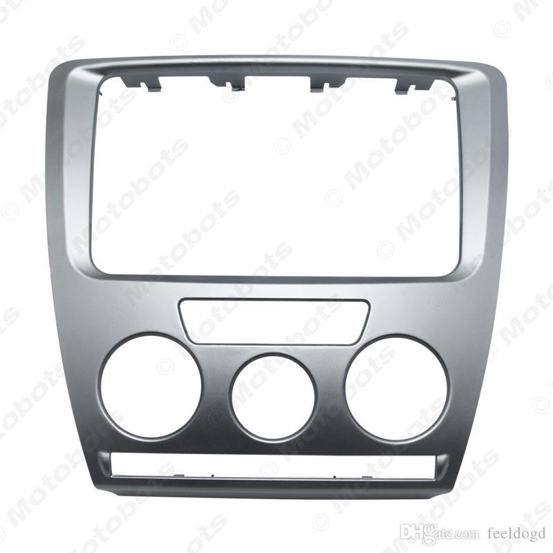 Car Radio Stereo 2DIN Fascia Panel Refitting Frame For Skoda Octavia (07-09) Manual A/C Facia Trim Install Mount Kit #3468