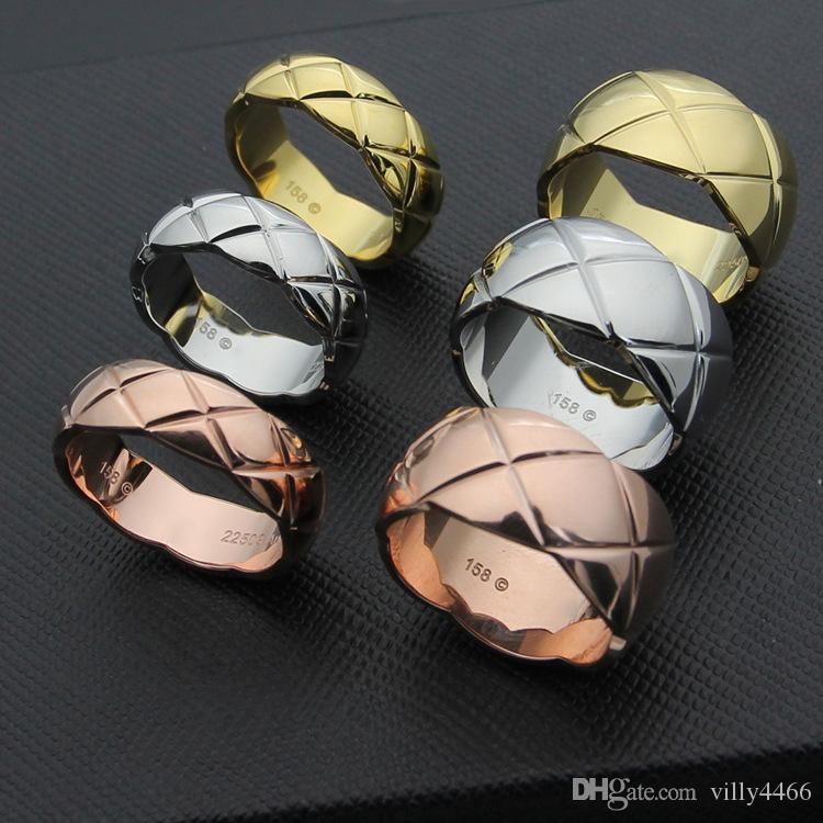 Hot fashion Marke 316L Edelstahl Schraube Liebe Finger CH Ring Für Frau multicolors Vergoldung 0,7 cm und 1 cm Breite Liebhaber Schmuck
