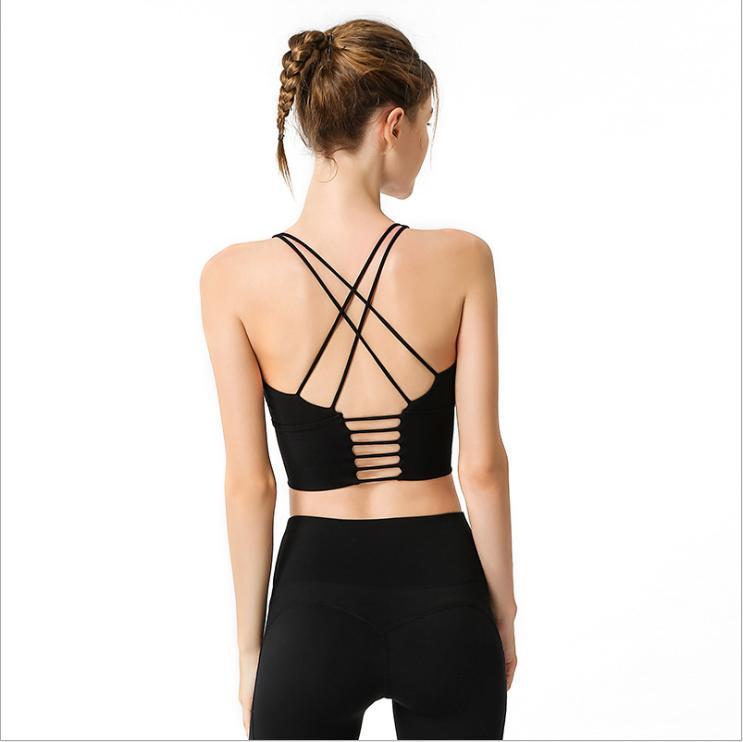 체육관 의류 섹시한 스포츠 브래지어 솔리드 요가 여성 피트니스 푸시 업 셔츠 속옷