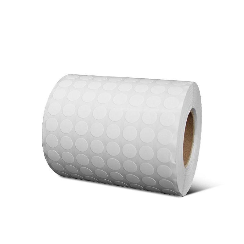 10 * 10mm 10000pcs rond papier enduit blanc rouleau autocollant adhésif étiquette 8 rangées blanc code à barres simple étiquette de bureau impression de bureau autocollant