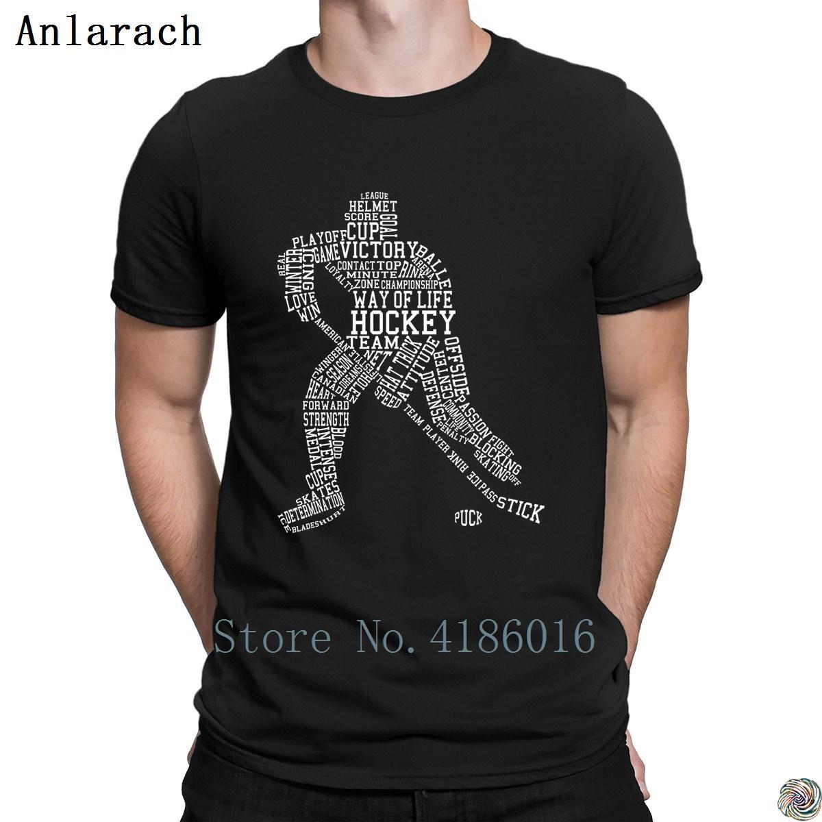 Ice hockeys Testo Figura t-shirt Tee top maglietta di alta qualità Abbigliamento Creatura fredde Euro molla di formato nuovo arrivo di autunno