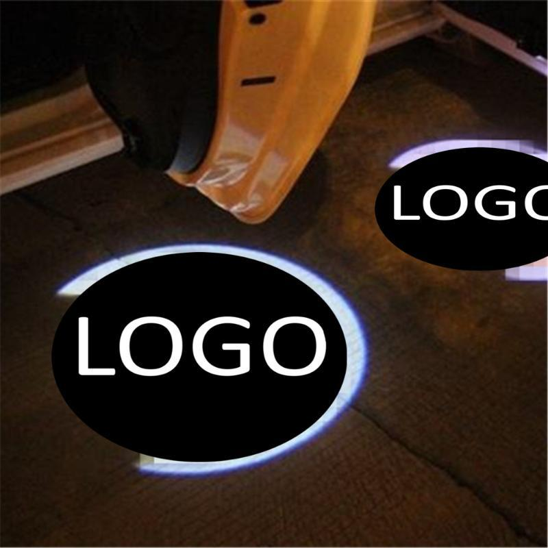 JingXiangFeng 2pcs Case For For wuling Car Door Welcome Light LED Laser Ghost Shadow lancia Warning