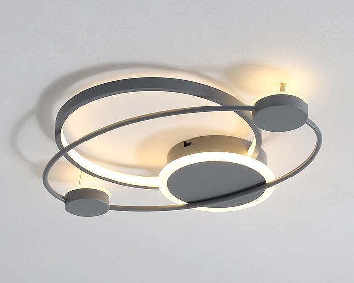 İskandinav Basit LED Tavan Işık Modern Akrilik Salon Romantik Armatür Bedroom Başucu Uzaktan Kumanda Yeni Tavan Lambası LLFA Isınma