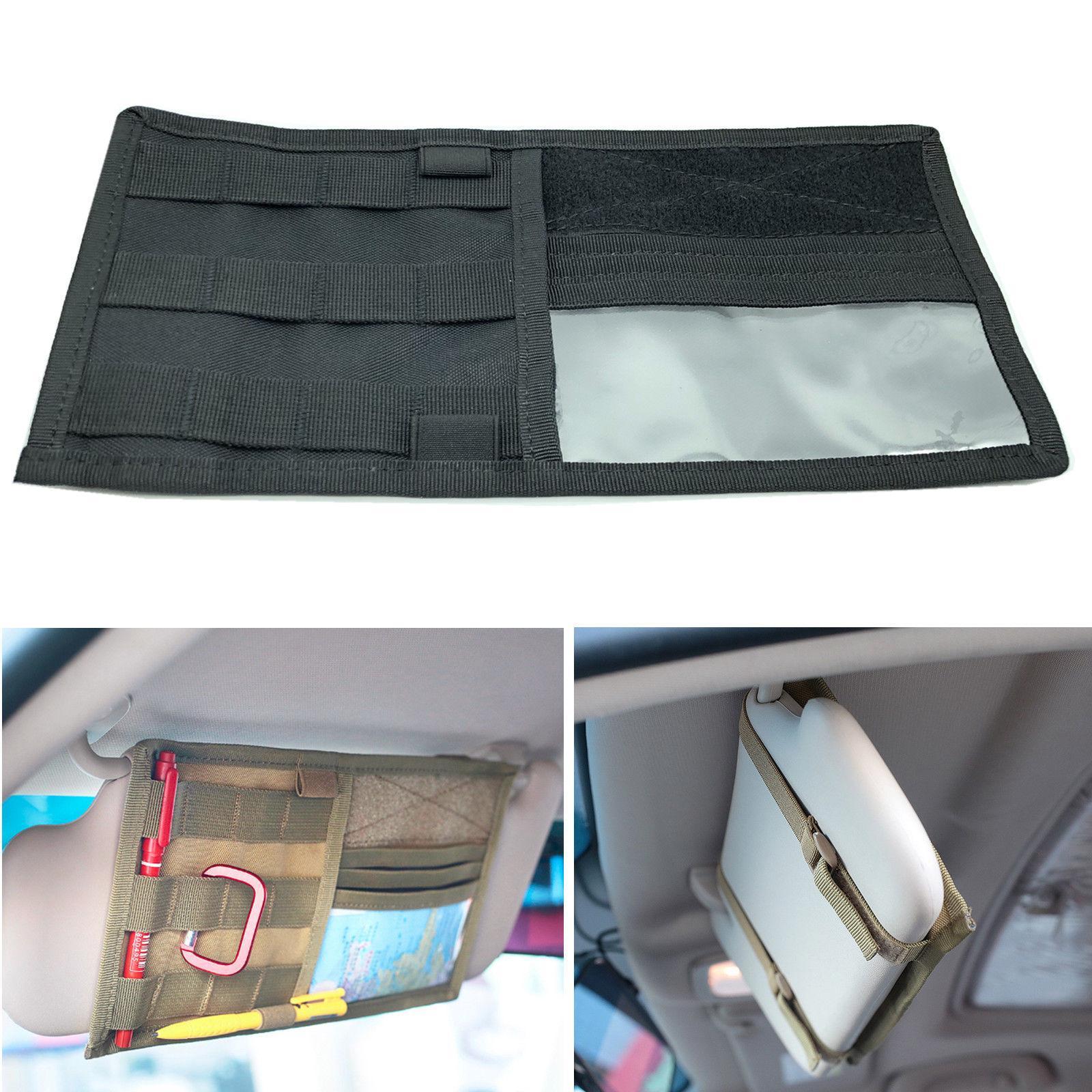 Car Sun Visor Organiser Cards Tickets Storage Bag Pocket Pouch Phone Holder