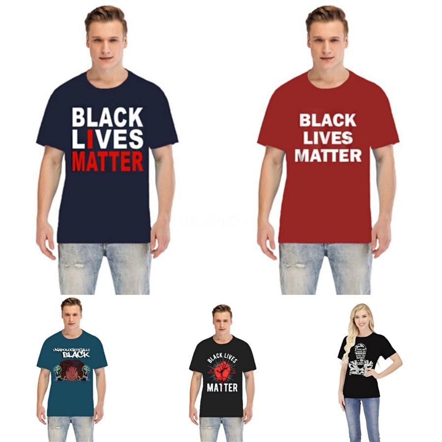 Nero Lives Matter! Mens progettista delle magliette T shirt Uomo Uomo Abbigliamento Estate casual girocollo manica corta modale modo di alta qualità camicia # 34