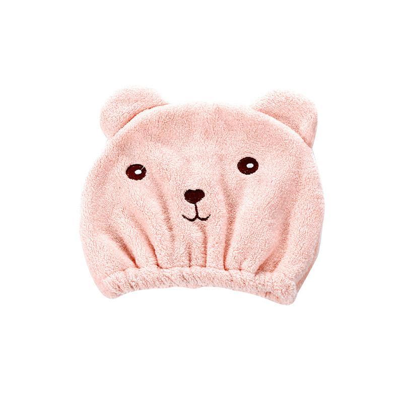 헤어 캡 귀여운 만화 곰 슈퍼 Bbsorbent 드라이 머리 수건 성인 고품질 산호 양털 샤워 캡