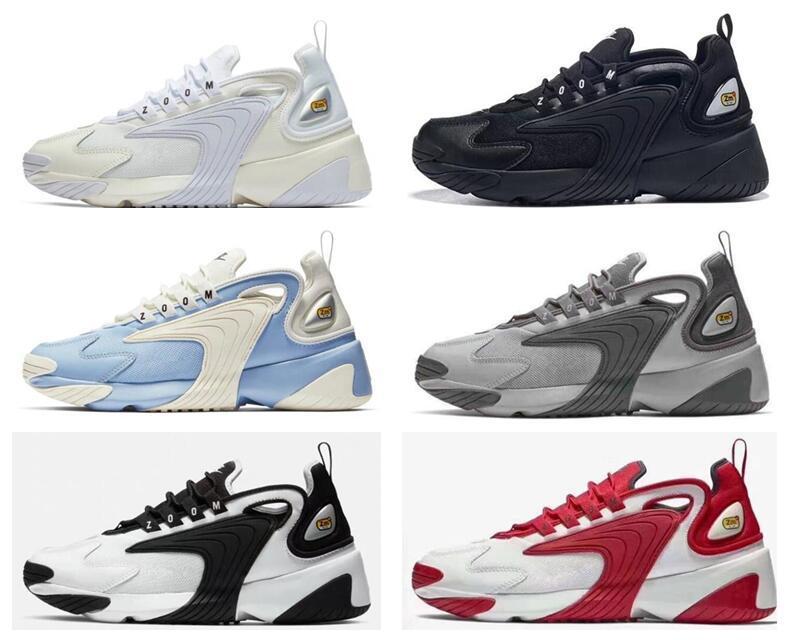 Nuovo m2K Tekno Zoom 2K ZM uomini stile di vita all'aperto casuali Scarpe Bianco Blu Arancione dimensioni scarpe di moda in esecuzione EUR 40-45